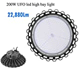 1000LED LED UFO High Bay Light, 200W, 22,880Lm, (800W Eq.), Daylight 5000K, AC 110-277V Waterproof, IP65, Area Warehouse LED Light …