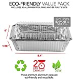 50 Pack Disposable Takeout Containers with Clear