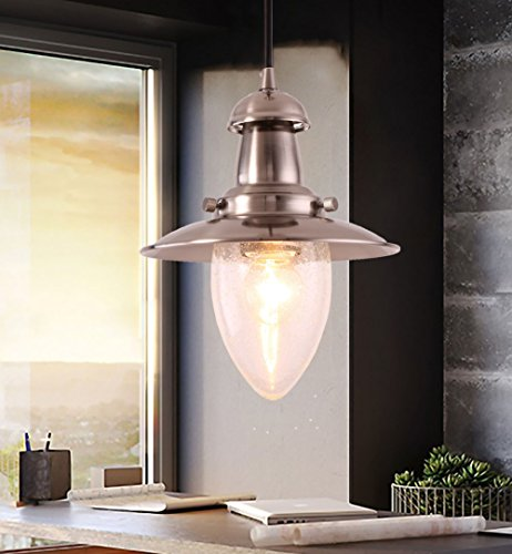 MSTAR Pendant Ceiling Light Antique Copper Finish Metal Pendant Light Fixture E26 Lamp Shade Antique Metal Finish