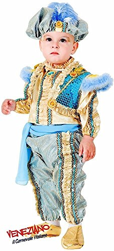 Deluxe Italian Made 6 Piece Baby Toddler Boys Arabian Genie Eastern Prince Around the World Fancy Dress Costume Outfit 0-36 months (1 -