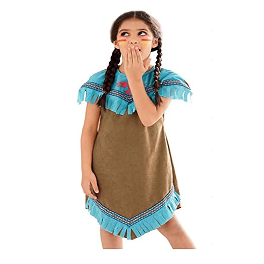 aa36711431749 Amazon.com: Girls Native American Costume Indian Maiden Costume ...