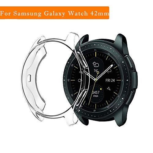 Price comparison product image JP-DPP9 for Samsung Galaxy Watch 42mm Watch Cover, 1Pcs Ultra-Thin Durable Soft TPU Silicone Protection Case (Clear)