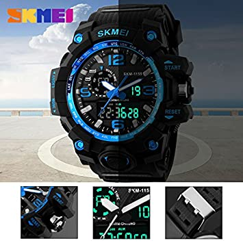 Reloj Digital de Cuarzo para Hombre, Deportivo con LED, Resistente al Agua, de la Marca Red Luxury: Amazon.es: Bricolaje y herramientas