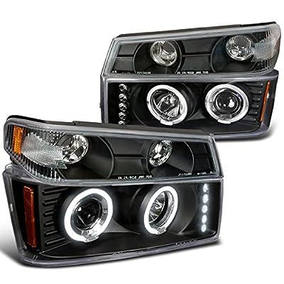 2004-2012 CHEVY COLORADO PROJECTOR HEADLIGHTS 4PC COMBO: Automotive