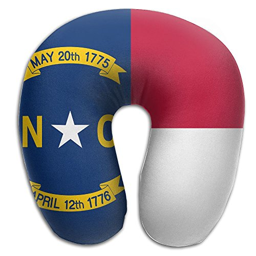 North Carolina Flag U Neck Pillow Travel Neck Pillow Support On A Train, Airplane, Car, Bus Or While Camping (North Sham Carolina)