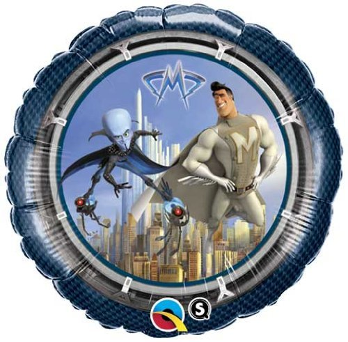 Single Source Party Supplies - 18'' Megamind and Metroman Mylar Foil Balloon