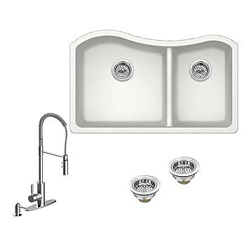 Amazon.com: IPT Sink Company All-in-One Undermount Granite Composite ...