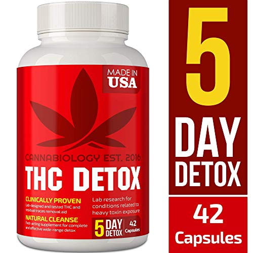 Detox Made in USA - 5 Day Detox - Bio-Cleanse + Liver Detox, Urinary Tract & Kidney Cleanse + Broad-Spectrum Toxin Cleanse - Natural THC Remover Detox - Milk Thistle, Cranberry - 42 Vegan Capsules (The Best Detox Drink To Pass A Drug Test)