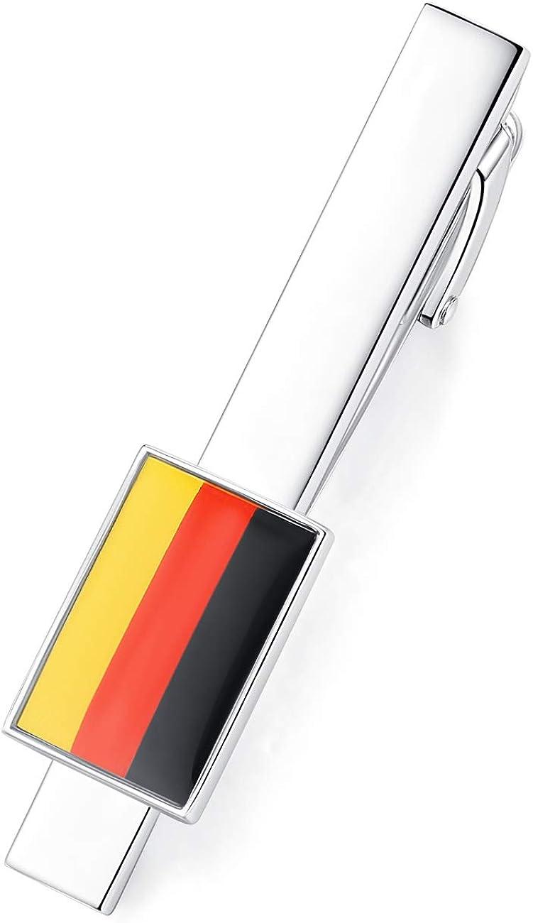 HONEY BEAR Bandera Nacional Flag Clip Pasador de Corbata - Talla Normal para Hombre Necktie, Acero Inoxidable,Boda Negocio Regalo,5.4cm (Bandera Alemana de Alemania): Amazon.es: Joyería