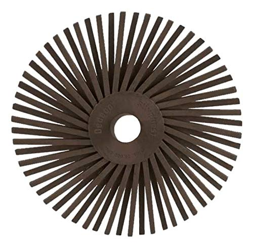 Dedeco Sunburst - 3 Inch TA Radial Bristle Discs - 3/8 Inch Arbor - Industrial Thermoplastic Rotary Cleaning and Polishing Tool (10, 3 Inch- Ultra-Coarse 36 Grit)