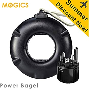 MOGICS BAGEL- (Black) Universal Travel Power Strip
