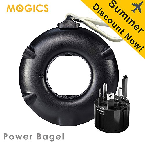 MOGICS Bagel- (Black) Universal Travel Power Strip by MOGICS