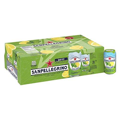 - San Pellegrino Sparkling Fruit Beverage, Lemon & Mint, 11.15 Fluid Ounce (Pack of 24)