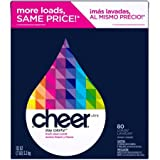 Cheer Laundry Detergent Cheer Ultra Fresh Clean Scent Powder Laundry Detergent,made for colorful clothes, 80 Loads, 112 oz