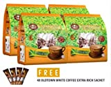4 Pack Old Town 3 In 1 White Milk Tea ( 48 Sticks ) Free 4 Extra Sachets