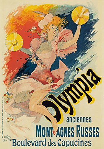 AP52 Vintage French 1982 Ancient Olympia Montagnes Russes Advertising Poster Re-Print - A1 (841 x 610mm) 33