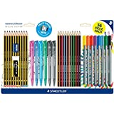 New Staedtler Stationery 36 Piece School Pens Pencils Eraser Sharpener Set
