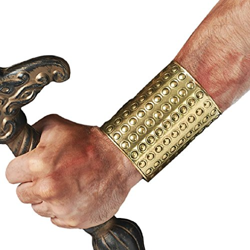 OvedcRay Adult Roman Warrior Greek Gladiator Egyptian Costume Wrist Arm Cuff Guard (Roman Gladiator Clothes)