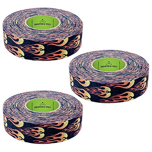 (NEW Renfrew 3 Pk Fire Flame Hockey Stick Shaft Blade Sports TAPE Rolls 24mmx25m)