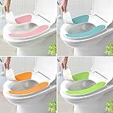 HuntGold 1 Pair Soft Comfortable Washable Bathroom Toilet Seat Cover Mat Lid Closestool Cloth(orange)
