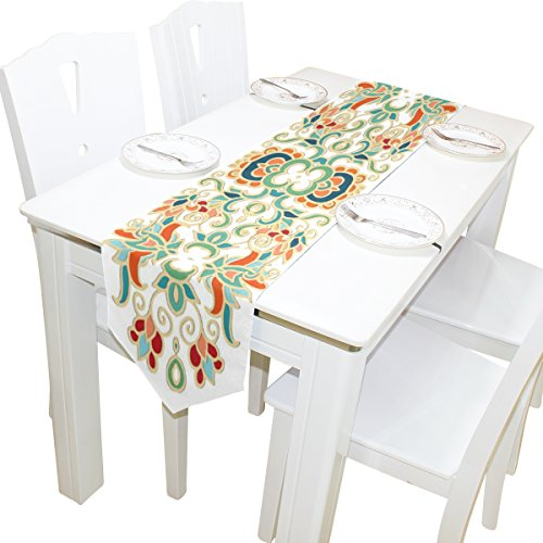 ABLINK Decorative Pattern 100% polyester characteristic print double-sided Table Runners