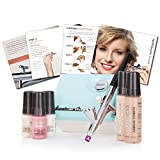 Luminess Air Aqua & White Legend Airbrush System with 5-Piece Deluxe Airbrush Foundation & Cosmetic Starter Kit, Shade Fair