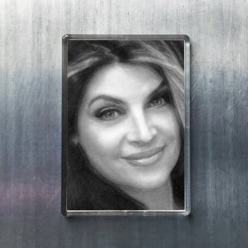 Seasons Kirstie Alley - Original Art Fridge Magnet #js005