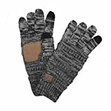#9: Funky Junque's C.C Beanie Matching Knit Touchscreen Texting Roomy Gloves (M, L, XL)