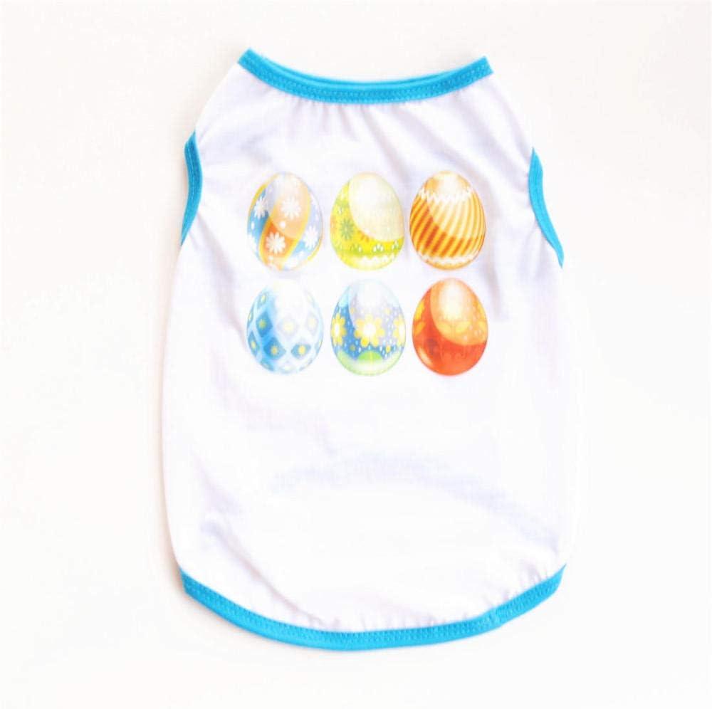ZLXUEFL Camisa del Perrocamiseta del Perroropa del Animal Domésticodel Chaleco, Vestimenta para Perros Y Gatos Chaleco Camiseta Primavera Y Verano@Blanco_M