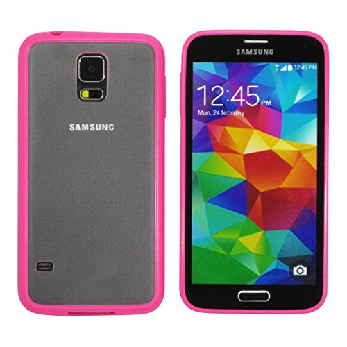 2 CASE COVER FOR SAMSUNG GALAXY S5 PINK HYBRID CASE+Random colors Super thinness 0.99/mm frosted transparent case