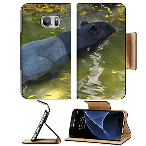 Liili Premium Samsung Galaxy S7 Flip Pu Leather Wallet Case tapir wild adult male in river corcovado national park costa rica IMAGE ID - Park Meadows Mal