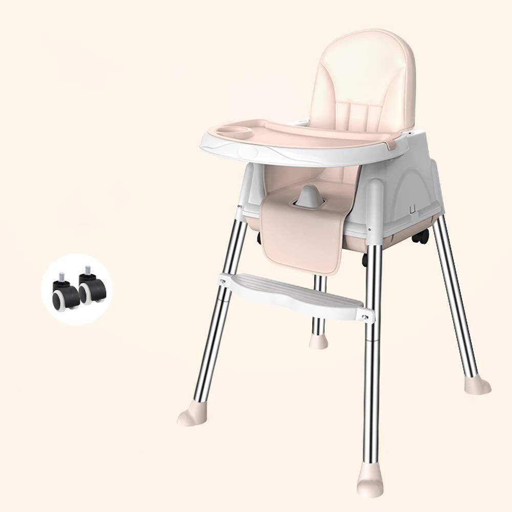 Swttppy Baby Dining Feeding Chair Dinner Children's High Chair Collapsible Portable Baby Chair Multi-Function Dining Table Chair Seating Children's Table (Color : Gray) by Swttppy