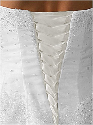 tutu.vivi Wedding Dress Zipper Replacement Adjustable Fit Corset Back Kit Lace Up Satin White 14''
