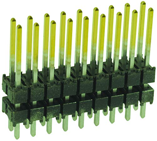 DW-25-15-L-D-300 - Board-To-Board Connector, 2.54 mm, 50 Contacts, Header, DW Series, Through Hole, 2 Rows, (Pack of 10) (DW-25-15-L-D-300)