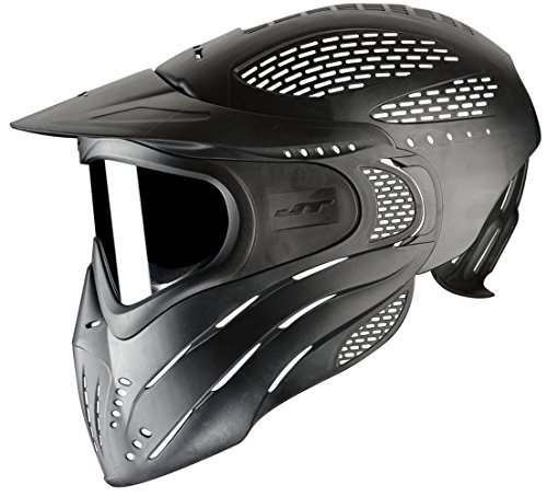 JT Premise Headshield Paintball Goggle Single Pane & Clear Lens, Black, One Size (Jt Black Thermal Paintball Mask)