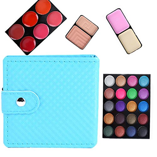Eye shadow Sandistore 32 Color Cosmetic Matte Eyeshadow Cream Eye Shadow Makeup Palette Shimmer Set (Blue)