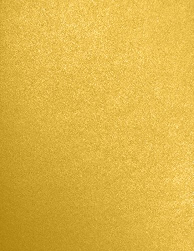 8 1/2 x 11 Cardstock - Fine Gold Metallic - Stardream? (50 Qty.) | Perfect for Printing, Copying, Crafting, various Business needs and so much more! | 81211-C-212-50 ()