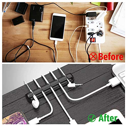 HAKACC Cable Clips, 5 PCS Cable Holder Wire Holder Cable Management Clips for USB Charging Power Cords TV PC Laptop Office Home