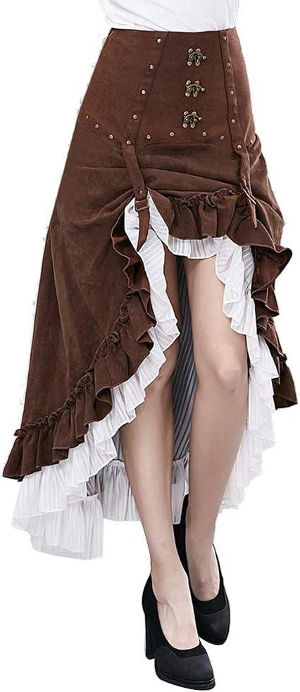 WLAC Falda gótica Steampunk Falda Pirata Victoriana Lolita Falda ...