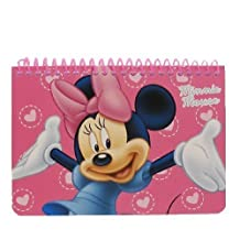 Disney Minnie Mouse Spiral Autograph Book - Pink, Model: by LICENSED DISNEY PRODUCT