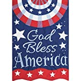 Cheap God Bless America – Garden Size, Emboidered Applique Style, Double Sided Decorative Flag – Approx. 12 Inch X 18 Inch Copyright, Licensed and Trademarked by Custom Decor Inc.