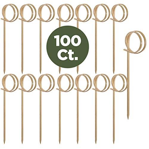 - Prexware Bamboo Ring Skewers, 3.5 Inch Loop Skewers, Bamboo Skewers Cocktail Picks. 100 Count.