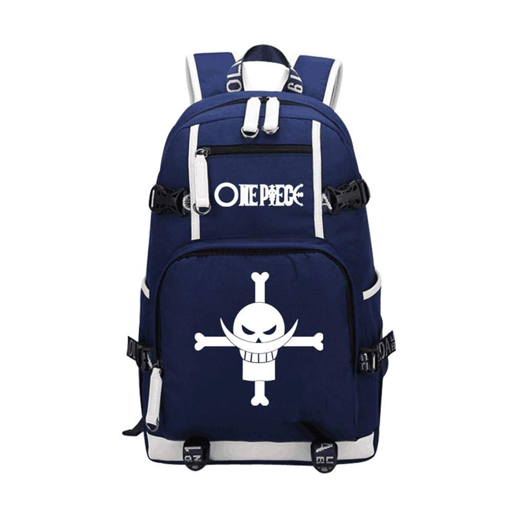 Unisex Anime Backpack One Piece School Bag Laptop Bag Travel Camping Daypack,A