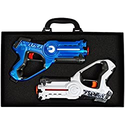 Dynasty Toys Laser Tag Set for Kids (2 Pack) and Carrying Case for Boys and Girls Birthday Party Lazer Tag Blasters