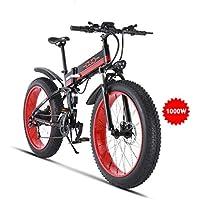 GUNAI Mountain Bike Elettrica,26 Pollici 21 velocità Mountain Bike E-Bike con Freno a Disco con Batteria al Litio Staccabile 48V