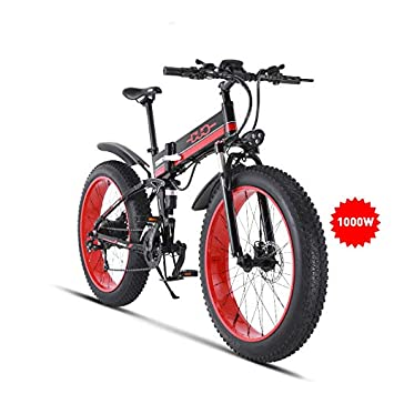 para toda la familia bajo costo bajo precio GUNAI Bicicletas Electricas Plegable Ebike Sistema de Transmisión de 21  Velocidades con Batería Extraíble y Pantalla LCD