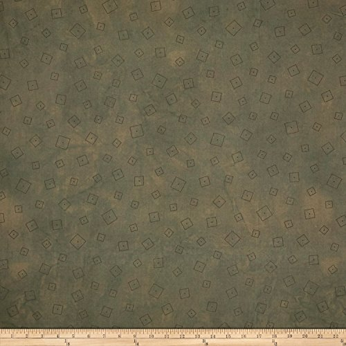 Riverwoods Collection Riverwoods Whisper Squares Grey Fabric by The ()