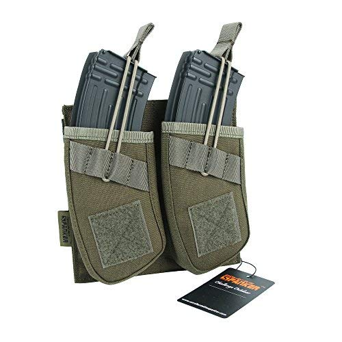 EXCELLENT ELITE SPANKER Tactical Open Top Magazine Single/Double/Triple AK Mag Pouch(Ranger Green)