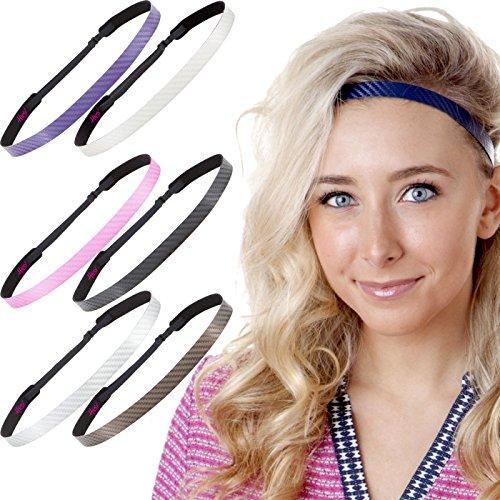 (Hipsy Women's Adjustable NO Slip Skinny Tech Sport Headband Multi Packs (Tech Headband 7pk))