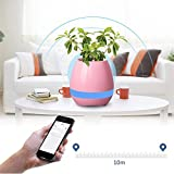 CAFOLO 4in1 Smart Touch Portable Bluetooth music Speaker vase,Mini Flower Planter Pots with Night Light Wireless Speaker,Touch Playing the Piano for Home office Children Adult Holiday Gift (Pink)